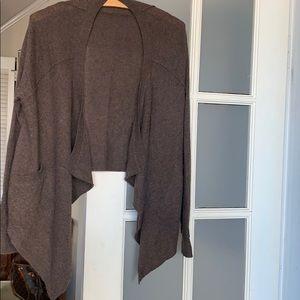 360 brown cashmere cardigan wrap Size M